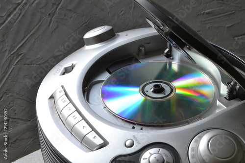 CD player with an open lid. Fototapeta