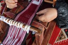 Hands Of An Arabian Female Weaver