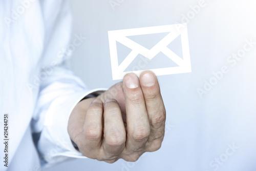 dita, mano, dito, posta, sms, email