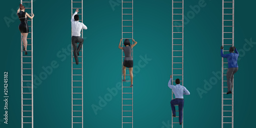 Photo  Climbing the Corporate Ladder