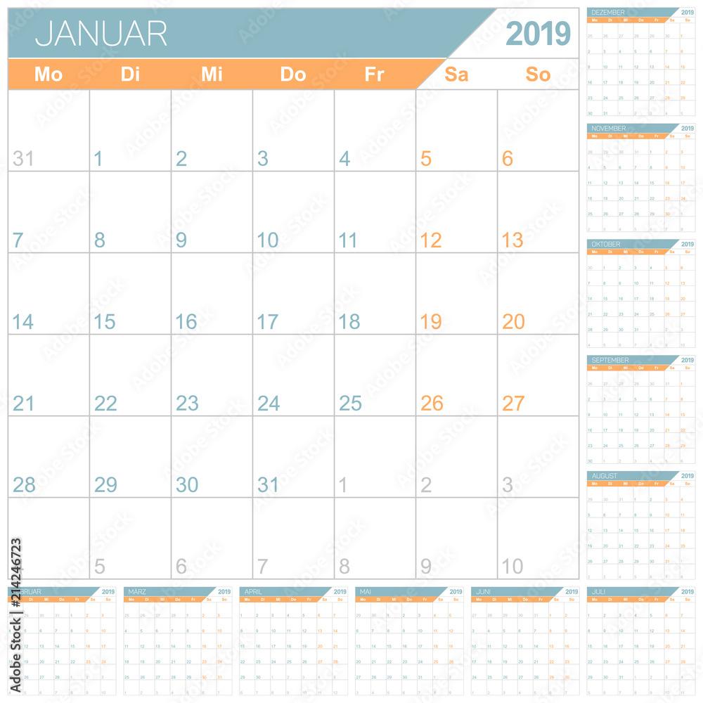photo art print german calendar 2019 german planning calendar