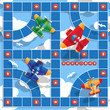 Board game on aviation. Vector design for app game user interface.