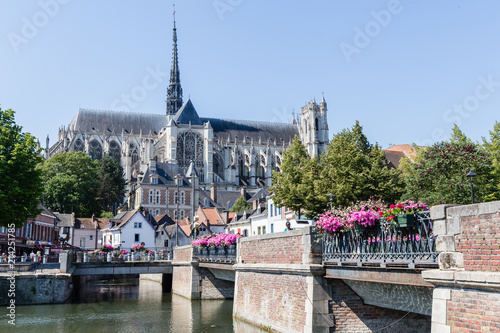 Foto the cathedral of Amiens