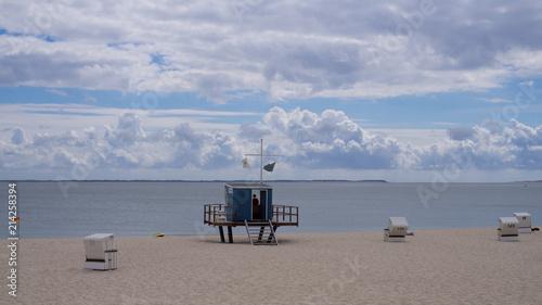 Foto op Aluminium Noordzee Strandaufsicht am Strand an der Nordsee