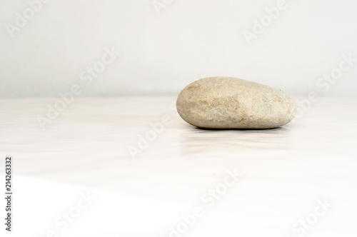 Acrylic Prints Stones in Sand pierre blanche