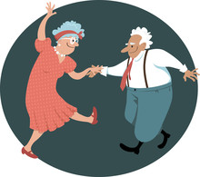 Cute Senior Citizens Couple Da...