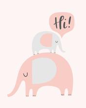 Vector Elephants Illustration ...