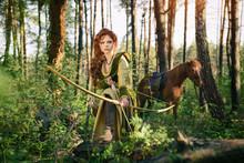 Fantasy Medieval Woman Hunting...