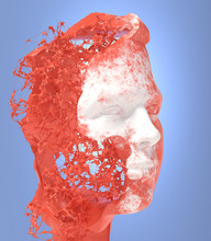 White And Red Male Head Formed...