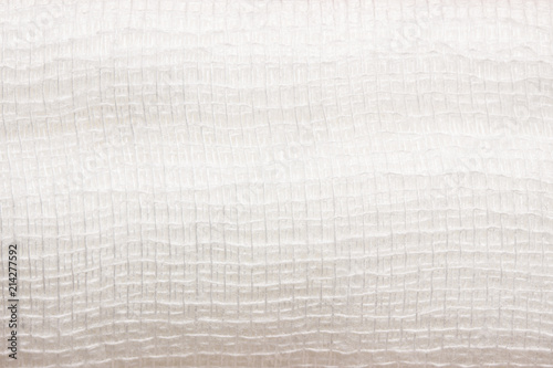 Photo texture of white medical bandage for dressing
