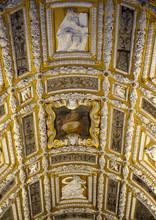 Deckengewölbe, Goldene Treppe, Scala D'Oro, Im Dogenpalast, Palazzo Ducale, Venedig, Venezia