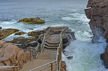 Cliff-lined Walkway For Touris...