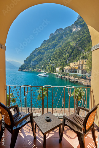 View of the beautiful Lake Garda Canvas Print