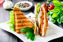 Club Sandwich With Cheese, Cuc...