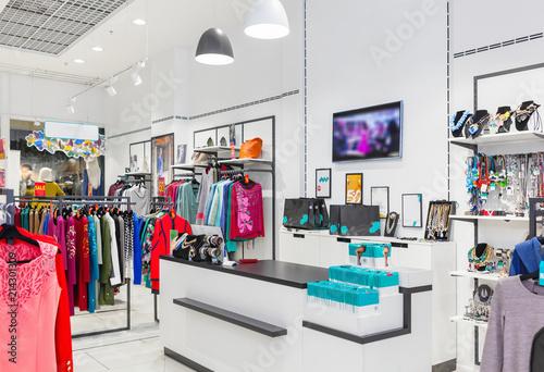 Fototapeta Interior of clothing store. obraz na płótnie