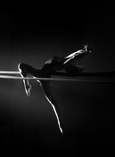 Dancer Performing In Black And White