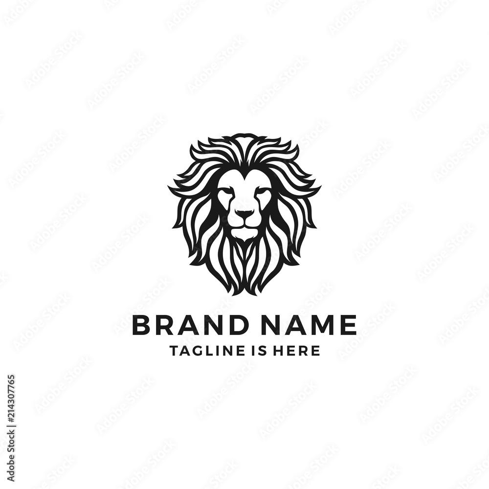 Fototapeta lion head logo template vector icon