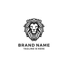 Lion Head Logo Template Vector...
