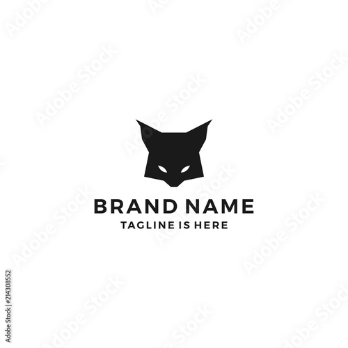 Vászonkép  lynx head wild cat logo template vector icon illustration