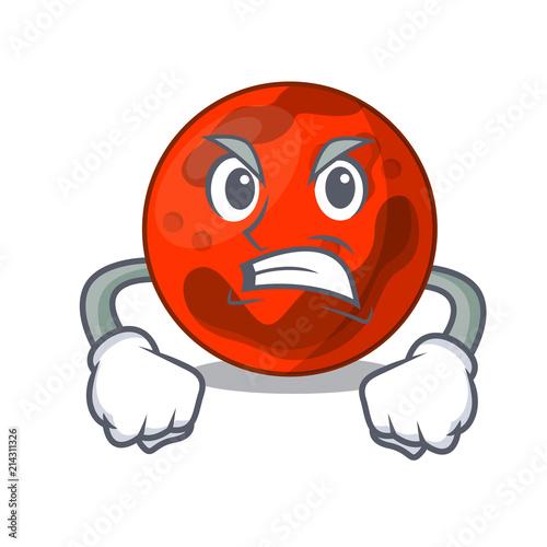 Canvas Print Angry mars planet mascot cartoon