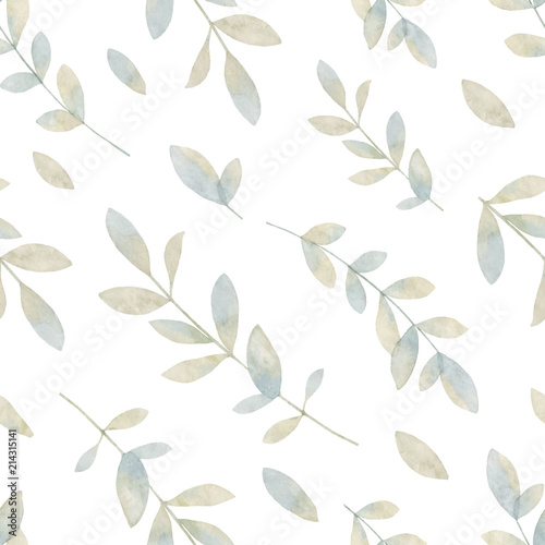 watercolor-vector-hand-painting-seamless-pattern-with-pastel-branches-and-leaves