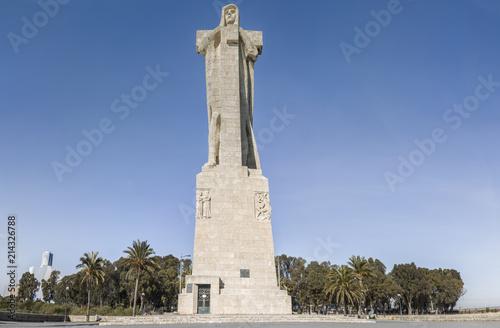 Discovery Faith Christopher Columbus Monument, Punta del Sebo, Tinto and Odiel riverside, Huelva, Spain