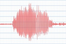 Seismograph And Earthquake. Seismic Activity. Lie Detector. Audio Wave Diagram. Vector Illustration