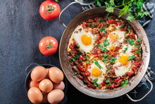 Shakshuka In A Frying Pan