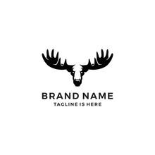 Moose Head Logo Template Vecto...
