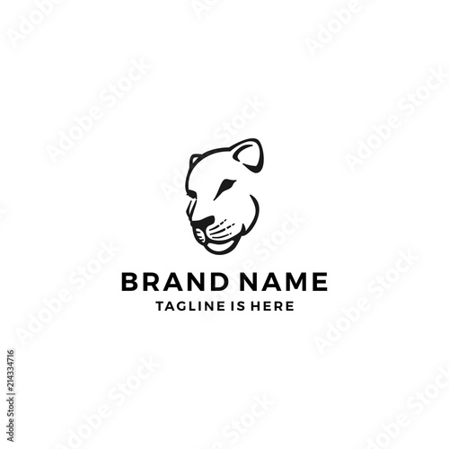 Fotografie, Obraz lioness logo template vector illustration