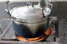 Old Cooking Pot Stove