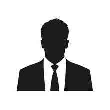 Business Man Icon. Male Face S...
