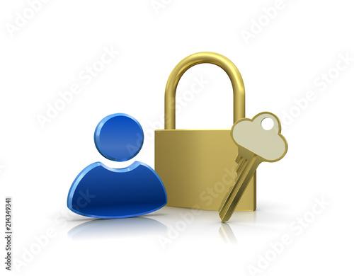 個人情報を保護するセキュリティイメージ Canvas Print
