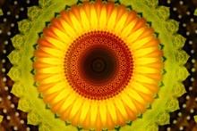 Kaleidoscope Mandala Texture Background