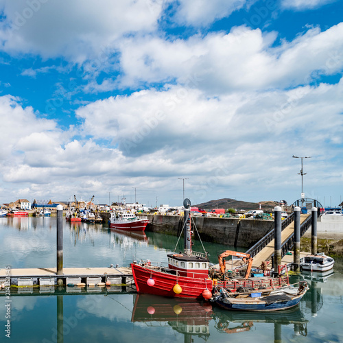 Fishing Boats in Howth Harbor Canvas Print