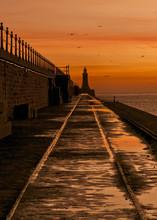 Sunrise, Tynemouth Pier, UK