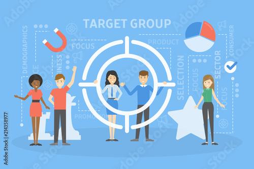 Fotografie, Obraz  Target group concept illustration