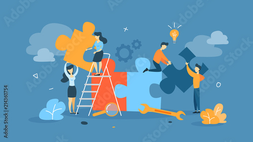 Fotografía  Teamwork concept illustration