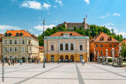 Ljubljana city center, capital of Slovenia