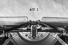ACT I, Typed Text On A Vintage...