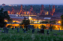 Sunset At The Steel Stacks In Bethlehem PA