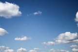 Fototapeta Na sufit - Blue sky with white clouds, background, clear day