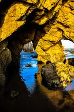 Rock Formations On El Matador State Beach In Malibu, California