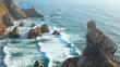 Cliffs ocean wave stone