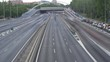 Timelapse of Highway M-30 in Madrid, Rush hour traffic jam. Car traffic in Madrid, Spain