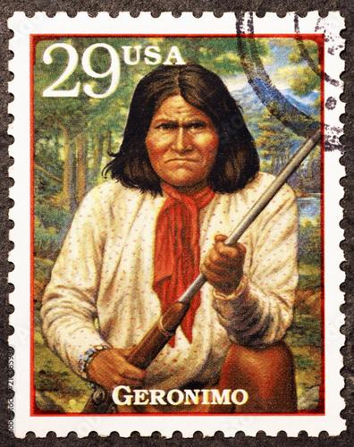 Fotografía Chief Geronimo on american postage stamp