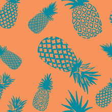 Vector Seamless Pineapple Pattern