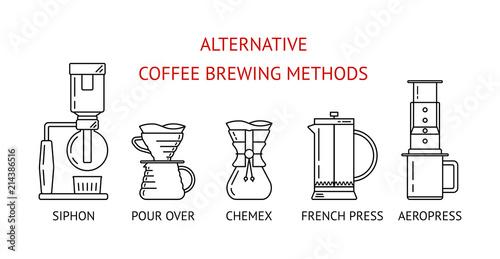Fotografie, Obraz  Alternative coffee brewing methods