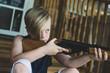 Young Boy Shooting BB Gun