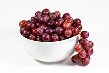 Red Seedless Grapes In A Deep ...
